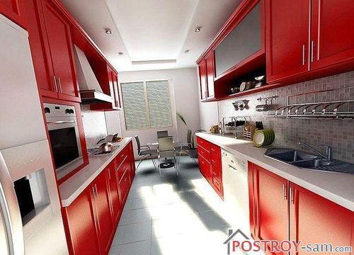 Дизайн узкой кухни площадью 9 кв.м