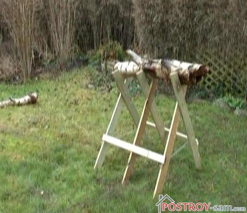 Козлы для дров своими руками