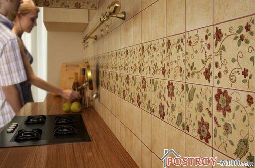 Почему плитка для кухни на фартук лучший вид отделки рабочей зоны?