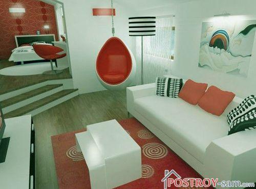 Подвесное кресло в квартире