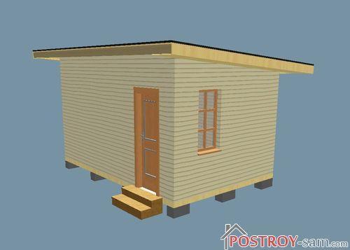 Проект сарая 4,5х3м