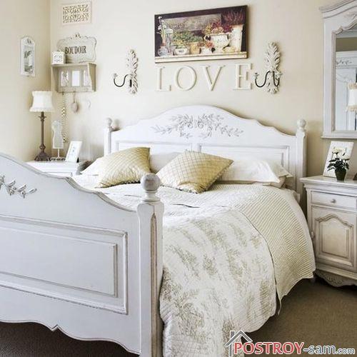 Оформление спальни в стиле кантри