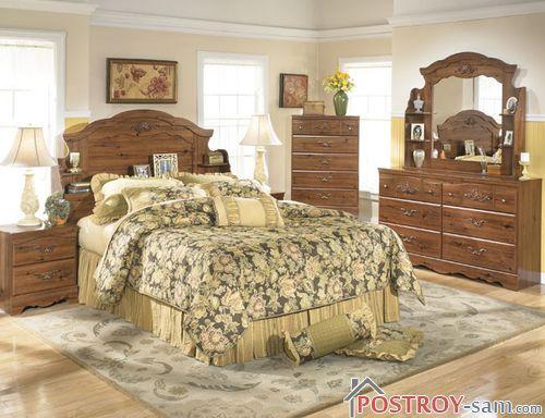 Цветовая гамма спальни в стиле кантри