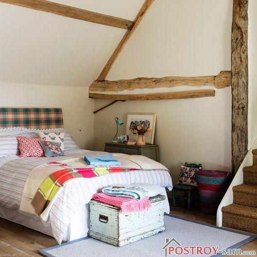 Цветовая гамма спальни в стиле кантри фото