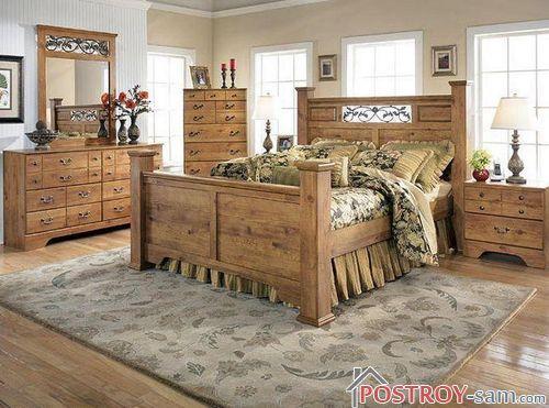 Какой должна быть спальня в стиле кантри?
