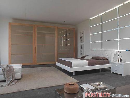 Спальня в стиле минимализм или ничего лишнего