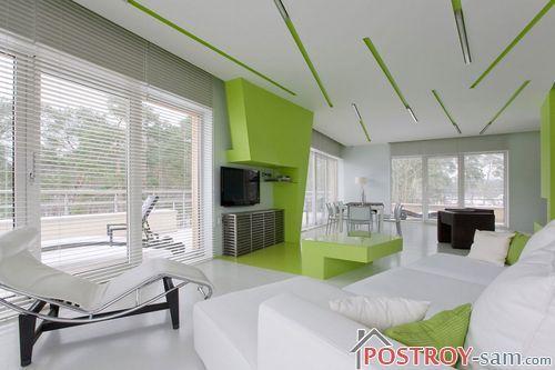 Сочетание зеленого и белого цвета