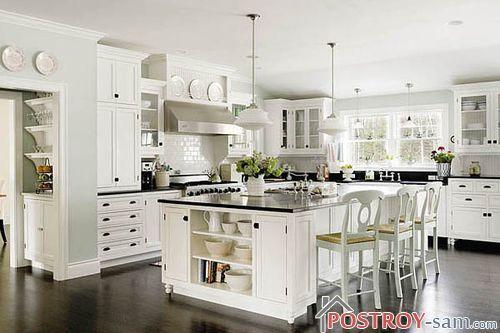 Черно-белый цвет на кухне