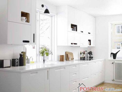 Чисто белая кухня