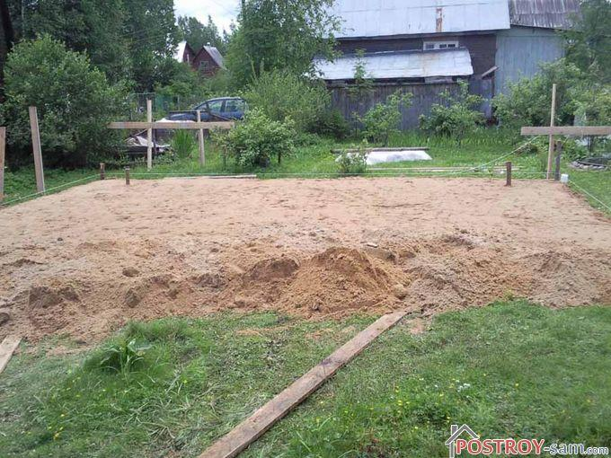 Как сделать фундамент на болотистой местности