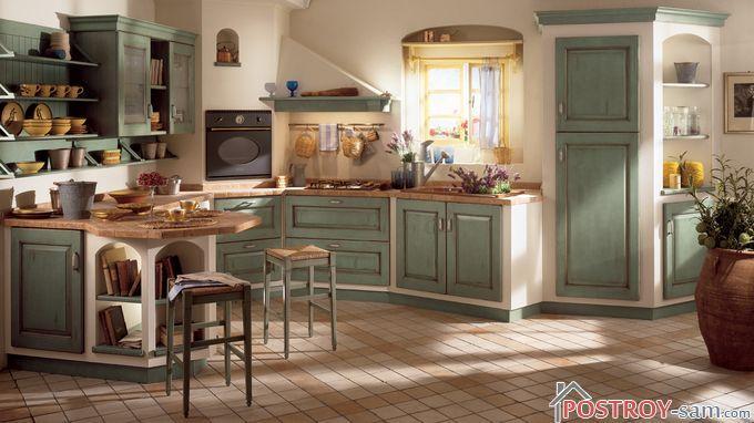 Цветовая палитра в интерьере сельской кухни