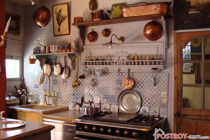 Деревенский стиль на кухне своими руками