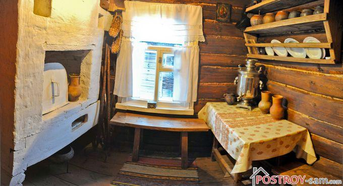 Старая мебель на кухне