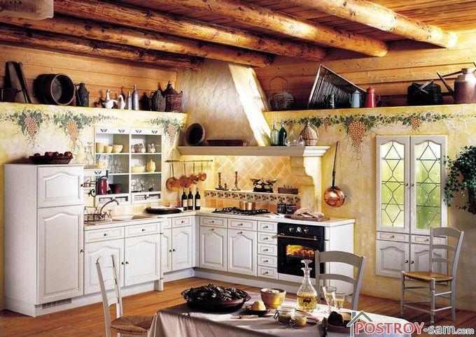 Оформление кухни в деревенском стиле своими руками