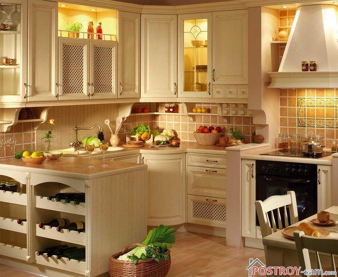 Плитка в отделке кухни