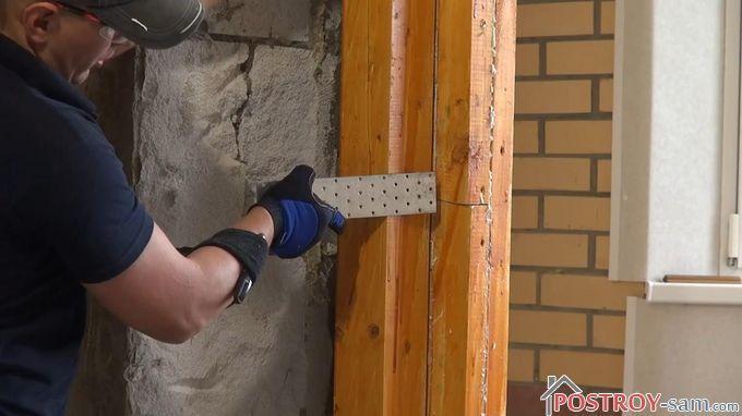 Пластины для крепления балконного блока