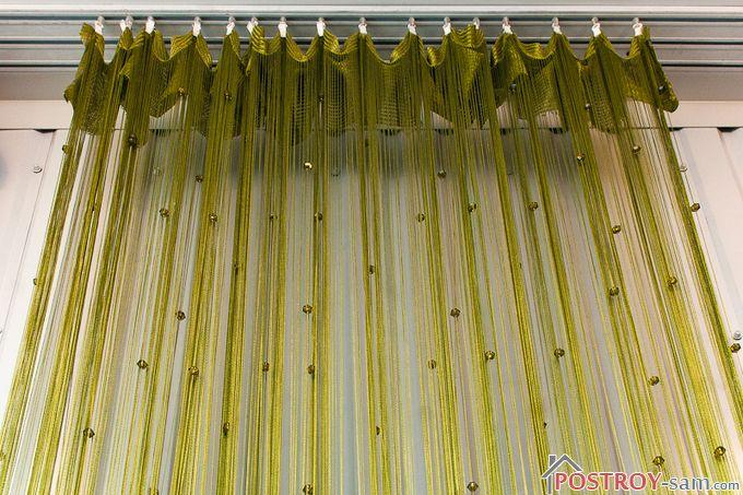 Нитяные шторы в интерьере — оригинальное оформление оконных и дверных проемов