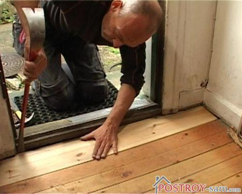 Ремонт деревянного пола своими руками. Видео