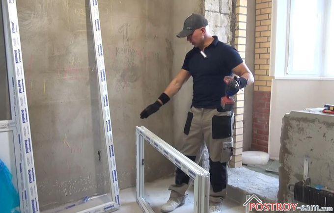 Как проводится сборка рамы балконного блока из ПВХ-профиля?