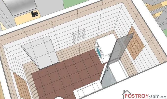 Как правильно разложить плитку на стене?