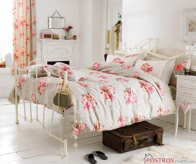 Спальня в стиле шебби шик пример