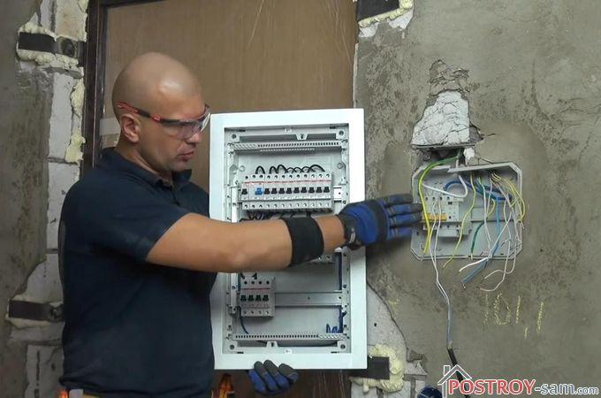 Когда производится замена распределительного щитка и вводного кабеля?