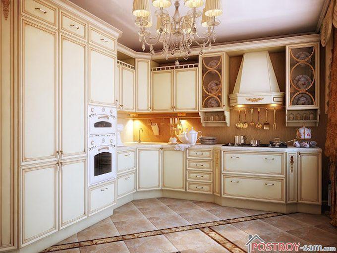 Светлая классическая кухня фото