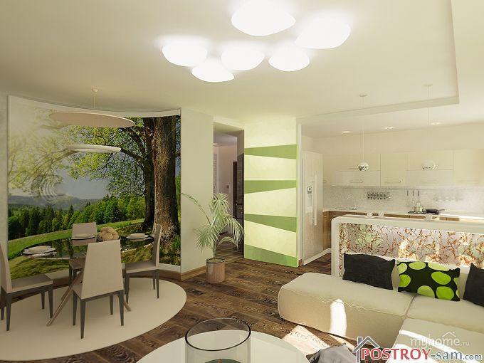 Оформление гостиной в экологическом стиле