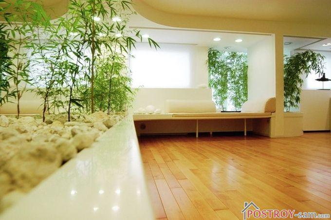 Инсталляции из натуральных материалов в гостиной