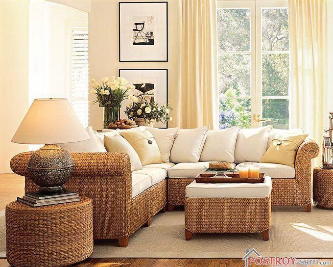 Деревянная плетеная мебель
