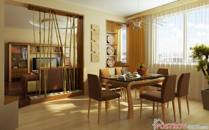 Бамбуковые перегородки в интерьере