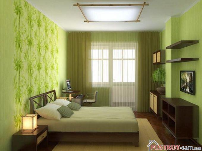 Экостиль в интерьере спальни