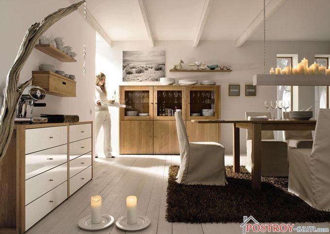 Экостиль в интерьере кухни