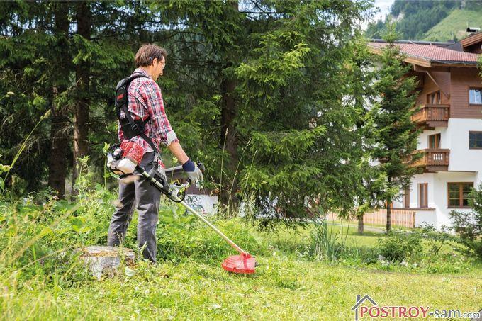 Мотокоса для стрижки травы и кустарников