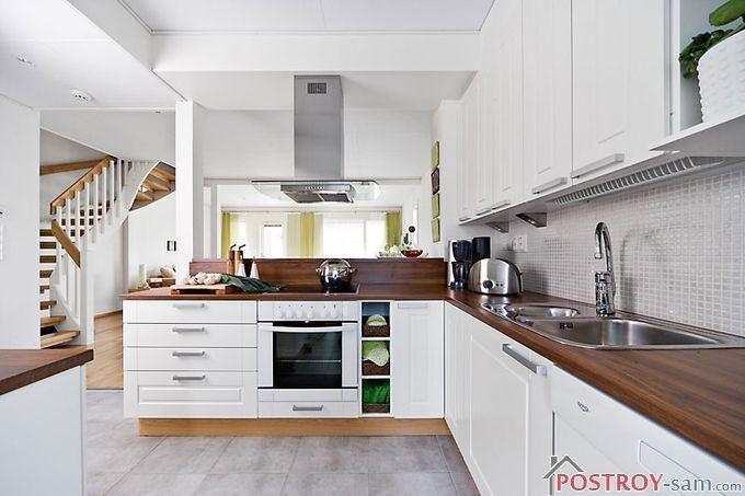 Цветовая гамма кухни в скандинавском стиле