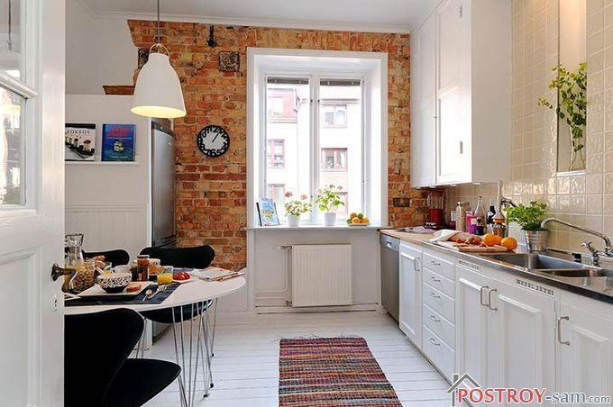 Теплые цвета в интерьере скандинавской кухни
