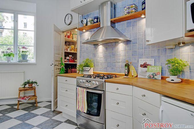 Синий цвет на кухне