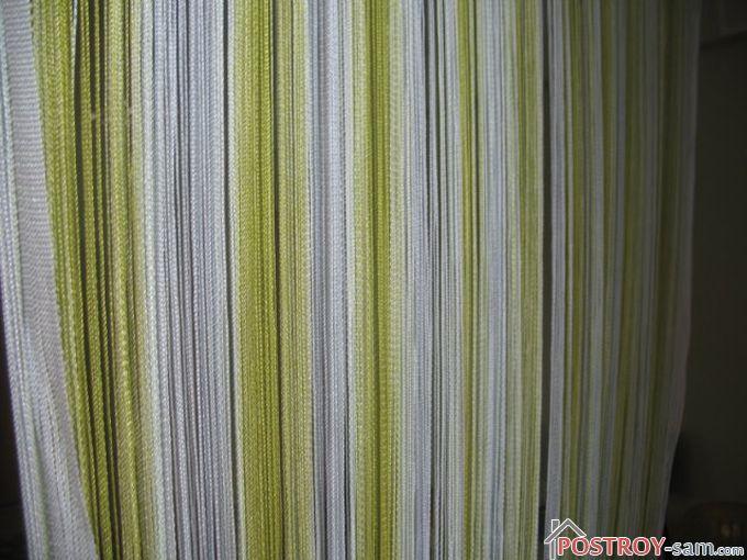 Кисейные нитяные шторы