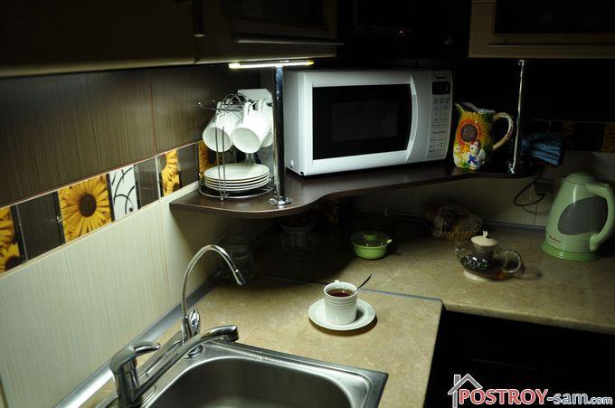 Как сделать освещение рабочего стола кухни?