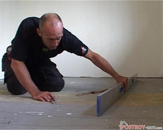 Подготовка бетонной поверхности пола