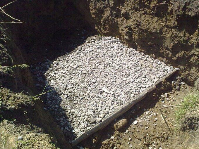 подготовка под бетонное основание столбчатого фундамента