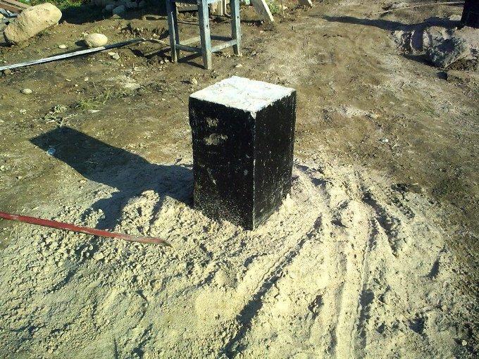 Как сделать столбчатый фундамент своими руками? Фото