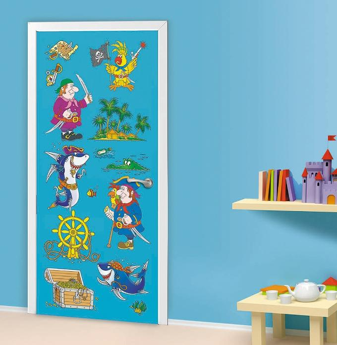 Фотообои на дверь детской