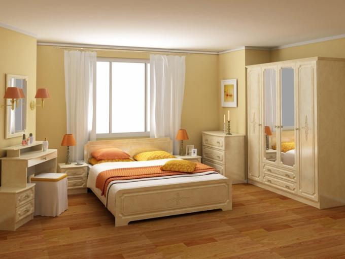 Как расставить спальный гарнитур