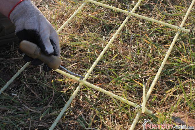 Вязание арматуры крючком