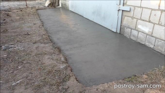 Как сделать отмостку для гаража?