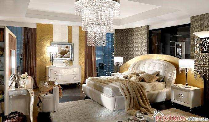Освещение и зеркала спальни в стиле арт-деко