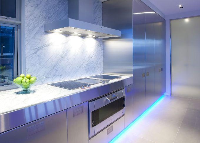 Кухонная плита подсветка