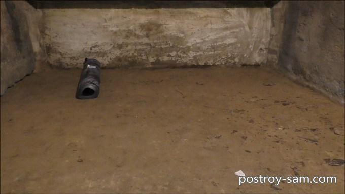 Уплотнение и выравнивание грунта в погребе