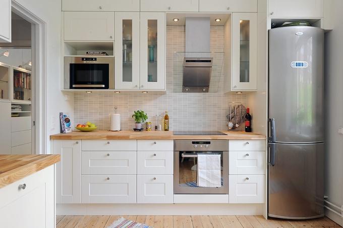 Дизайн кухни в белых цветах